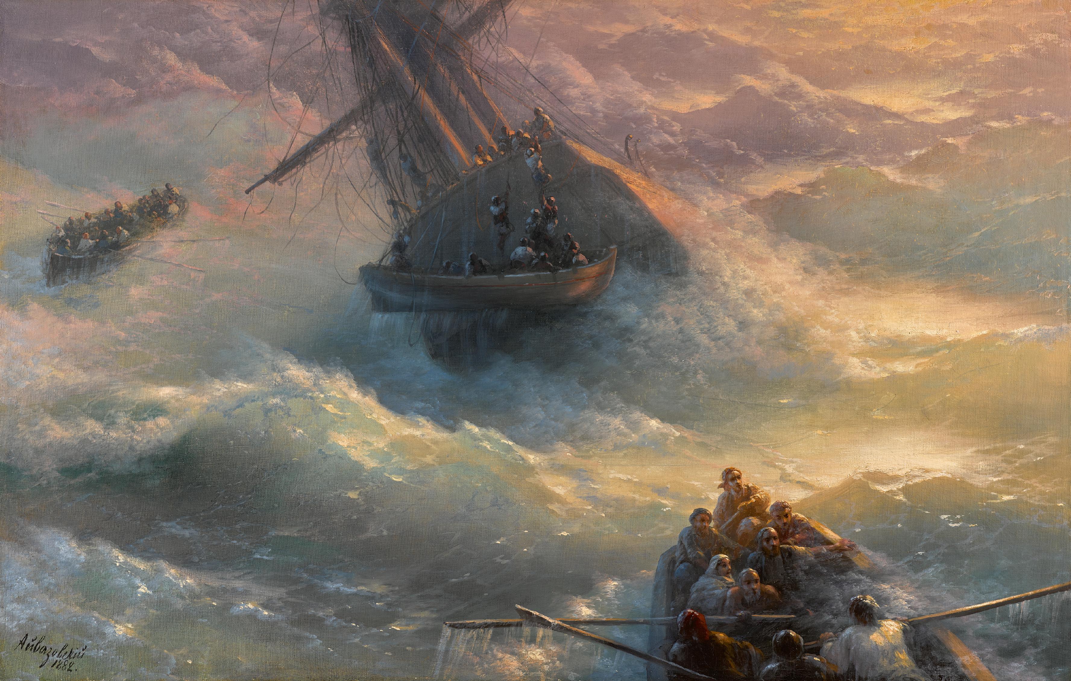 IVAN KONSTANTINOVICH AIVAZOVSKY | Abandoning Ship