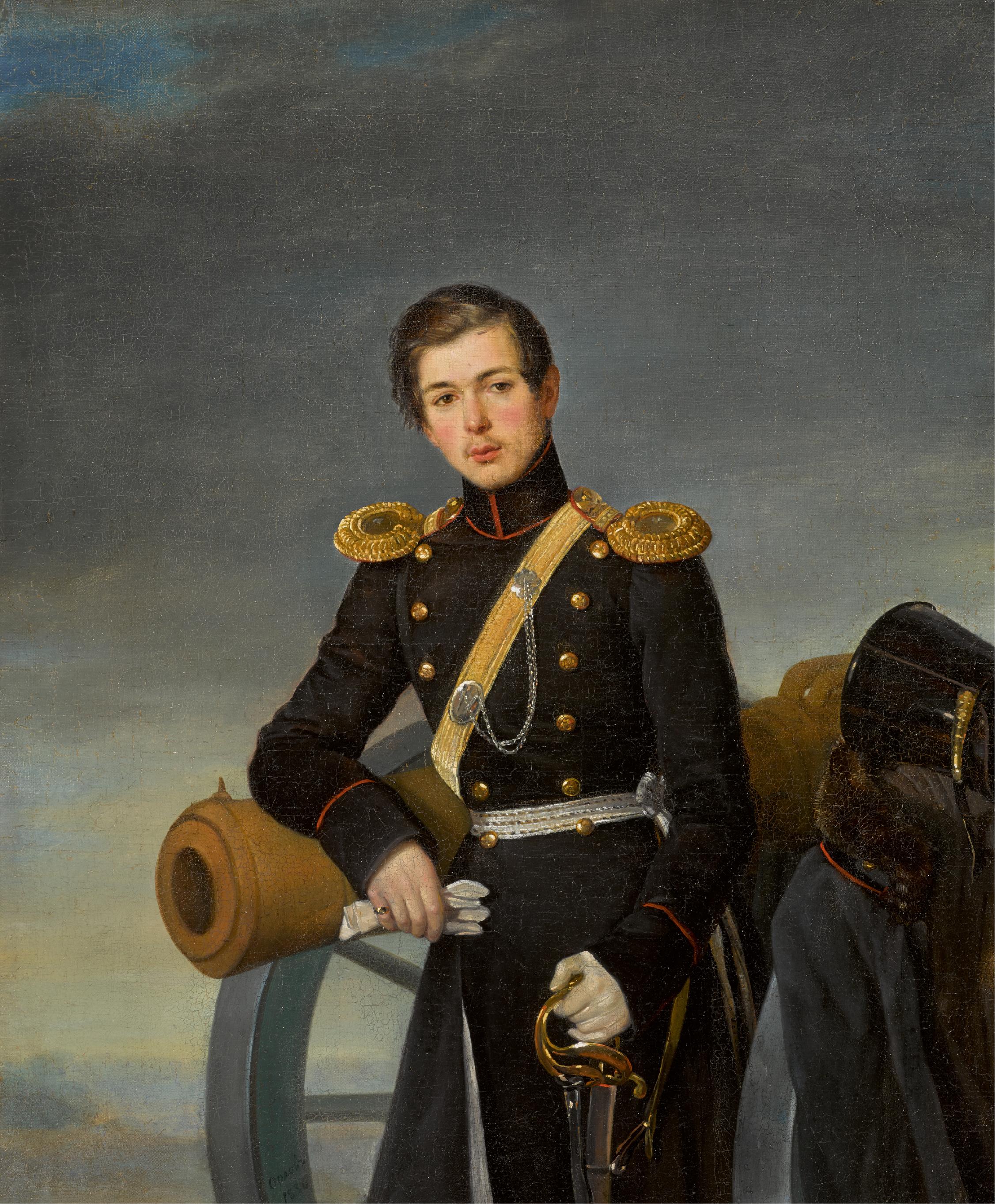 PIMEN NIKITICH ORLOV | Portrait of Andrei Nikolaevich Karamzin